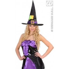 Satin & Velvet Witch Hats Adult Size - Fancy Dress (Halloween)