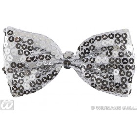 Silver Sequin Bow Ties - Fancy Dress