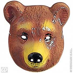 Bear Mask Plastic Child - Fancy Dress (Animals)