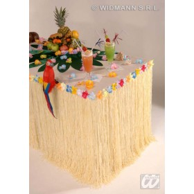 Table Skirt Tropical / Hawaiian With Flowers 275X75 - Fancy Dress