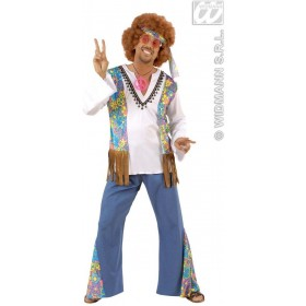 Woodstock Hippie Man Fancy Dress Costume Mens (1960S)