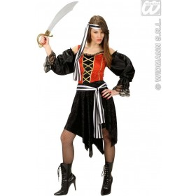 Velvet&Satin Bucaneer - Dress, Belt, Headband Costume