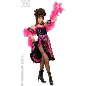 Can Can Gal Satin/Sequin Adult Fancy Dress Costume (Burlesque)
