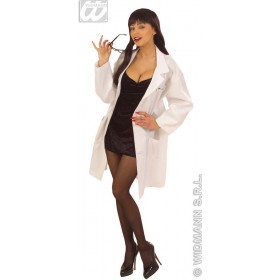 Lab Coat W/Name Tags Fancy Dress Costume Ladies