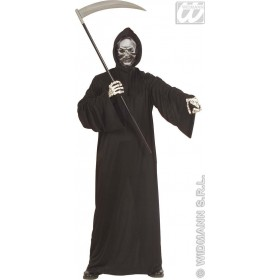 Grim Reaper Costume Adult 3D Skull Mask Costume Mens (Halloween)
