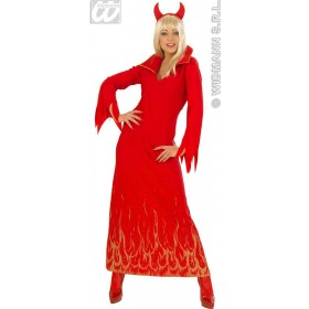 Sparkling Devilin With Dress, Horns Fancy Dress Costume (Halloween)