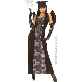 Gothic Bat With Dress, Wings, Ears Fancy Dress Costume (Halloween)
