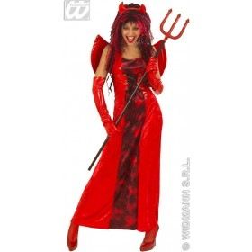 Devilicious With Dress, Wings, Horns Fancy Dress Ladies (Halloween)