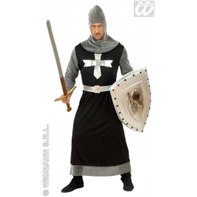 Dark Crusader Black/Silver Fancy Dress Costume Mens (Medieval)