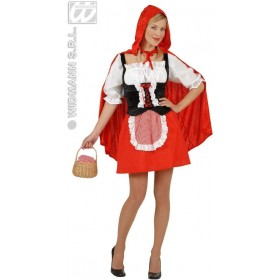 Red Capelet Velvet Fancy Dress Costume Ladies (Cartoon)