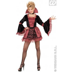 Goth Vamp Costume Adult Ladies Fancy Dress Costume (Halloween)