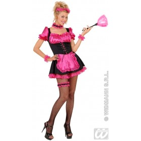 French Maid Costume Pink/Black Costume Size 10-12 M (French)