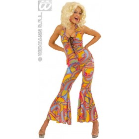 70S Funky Chick With Jumpsuit Fancy Dress Costume (1970S)