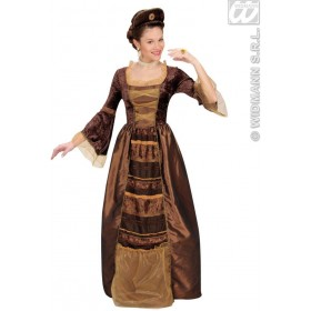 Baroque Baroness - Dress W/Wire Hoop, Headpiece Costume (Renaissance)