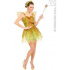 Golden Forest Pixie - Dress, Wings, Headpiece Costume (Fairy Tales)