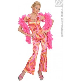 70S Fever Jumpsuit 3Cols Fancy Dress Costume Ladies (1970S)