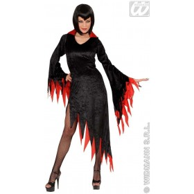 Dark Mistress Velvet Adult Costume Red/Pple Costume (Halloween)