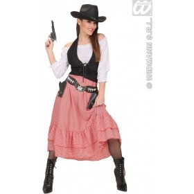 Western Belle Fancy Dress Costume Ladies (Cowboys/Indians)