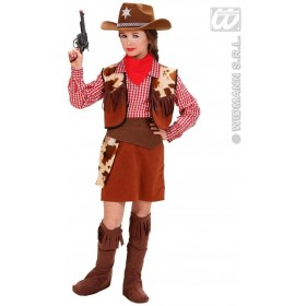 Cowgirl Fancy Dress Costume Girls (Cowboys/Native Americans)