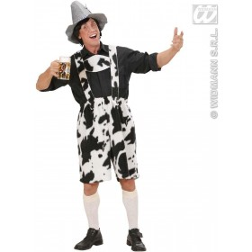 Plush Cow Lederhosen Fancy Dress Costume Mens (Cultures)