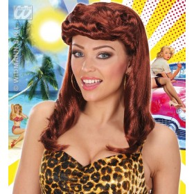 Pin Up Girl Wigs - Brown - Fancy Dress