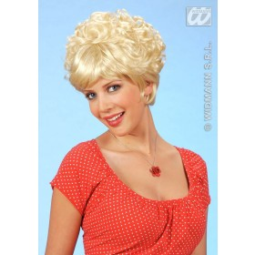 Tiffany Wig Straight/Curly Short Blonde - Fancy Dress
