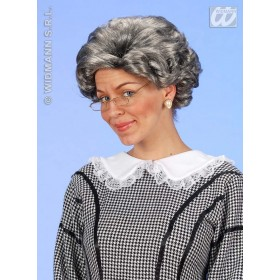 Agatha Wig Grey - Fancy Dress