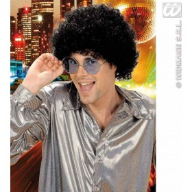 Unisex Curly Wig - Black - Fancy Dress