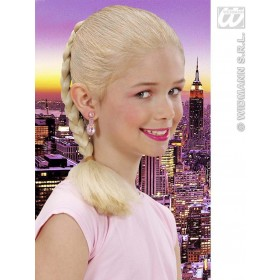 Hair Extension Plait Child - Blonde - Fancy Dress Girls