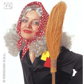 Granny/Witch Wig W/Headscarf - Fancy Dress (Halloween)