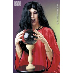 Wig Black Witch Amelia - Fancy Dress (Halloween)