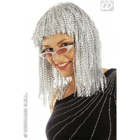 Crinkle Wig Silver - Fancy Dress