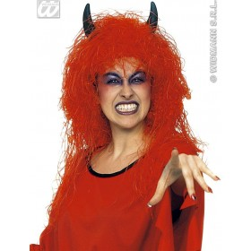 Lady Devil Wig In Box - Fancy Dress (Halloween)