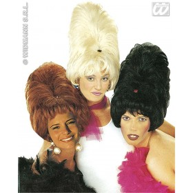 Skyscraper Wig In Polybag Blk/Brn/Blde - Fancy Dress
