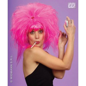 Pink Pretty Woman Wig - Fancy Dress Ladies