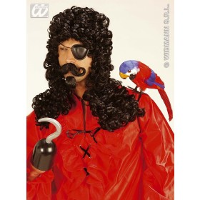 Captain Wig With Moustache & Goatee - Fancy Dress