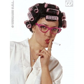 Vanity Wig With Rollers - Fancy Dress