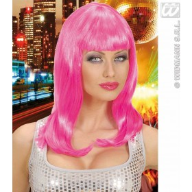 Pink Wig In Polybag - Fancy Dress