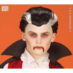 Child Vampire Wig In Polybag - Fancy Dress Boys (Halloween)