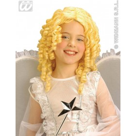 Blonde Curly Angel Wig Kids - Fancy Dress (Christmas)