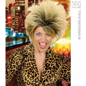 80S Pop Star Wig In Polybag - Fancy Dress (1980S)