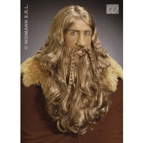 Viking Wig W/Maxi Beard And Moustache - Fancy Dress