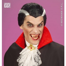 Vampire Wig In Polybag - Fancy Dress (Halloween)