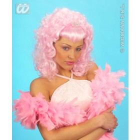 Glamour Wig W/Strass Tiara - Fancy Dress