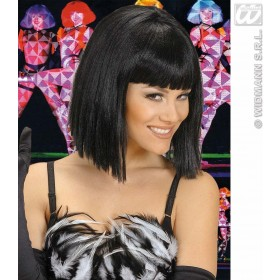 Showgirl Wig - Black - Fancy Dress