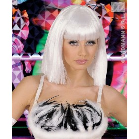 Showgirl Wig - White - Fancy Dress