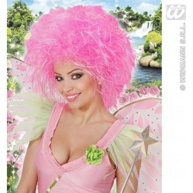 Fairy Wig In Polybag - Neon Pink - Fancy Dress (Fairy Tales)