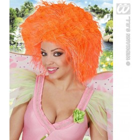 Fairy Wig In Polybag - Neon Orange - Fancy Dress (Fairy Tales)