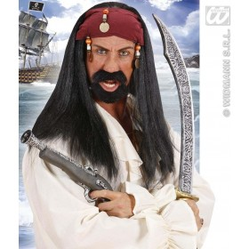 Pirate Of The Caribbean Wig & Bandana & B, Fancy Dress (Pirates)