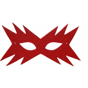Star Eyemask - Red - Fancy Dress